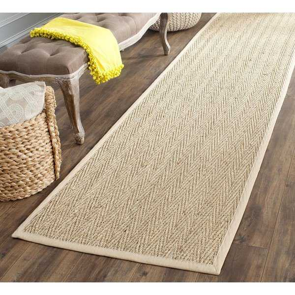 Safavieh Casual Natural Fiber Natural / Beige Seagrass Runner Rug - 2'6' x 6'