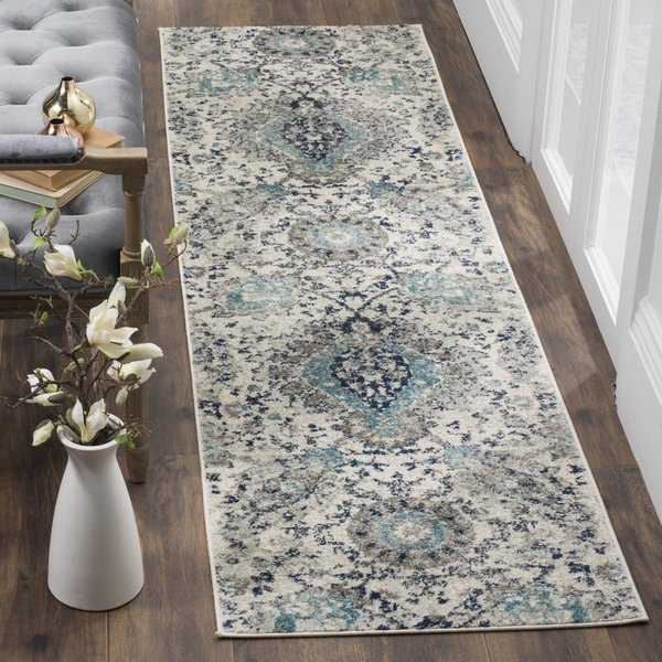 Safavieh Madison Paisley Boho Glam Cream/ Light Grey Runner Rug - 2'3' x 10'