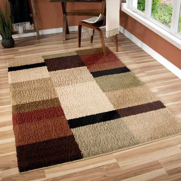 Porch & Den Addison Riveting Shag Multi Shag Area Rug - 5'3 x 7'6