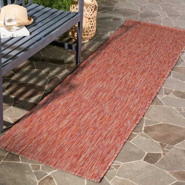 Safavieh Indoor/ Outdoor Courtyard Red/ Red Rug - 2'3' x 8'