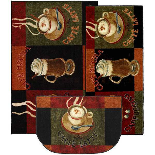Mohawk New Wave Caffe Latte Individual or 3-piece Rug Set